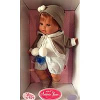 Кукла мальчик мягконабивной Dato с пустышкой 30 см Antonio Juan 1332