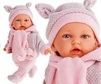 Кукла мягконабивная озвученная Petit 27 см в теплой одежде Antonio Juan 1226