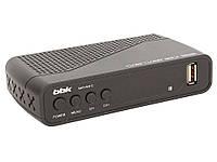 Тюнер Т2  Цифровой телевизионный DVB-T2 ресивер BBK SMP145HDT2 черный , фото 1