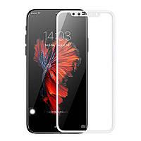 Защитное стекло 10D для iPhone X white
