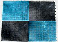 """Коврик пластиковый под дверь 60×45×2 см «Травка» из 4 секций """"ПолимерАгро"""""""