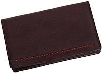 Кожаный оригинальный чехол для визитных карт Verus (Верус) London. Артикул: 14B MN коричневый, 14R MN красный