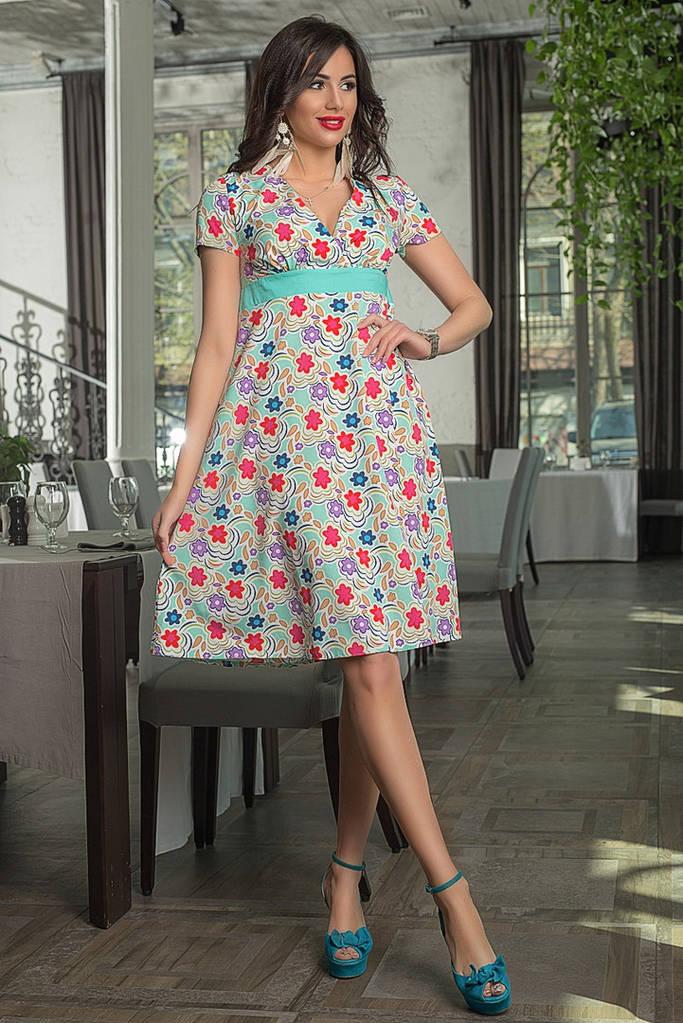 Платье с цветочным принтом / 3 цвета  арт 6872-591