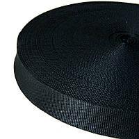 06- Черная тесьма сумочная-ременная, 3см