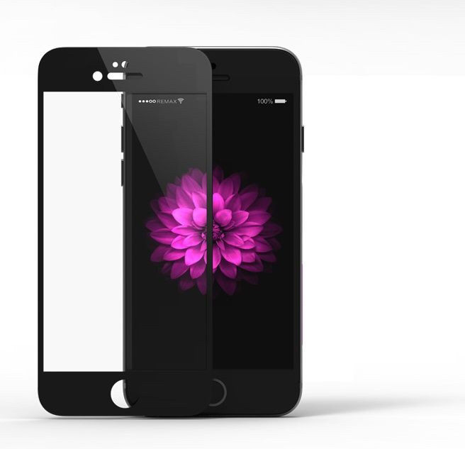 Защитное стекло 3D Carbon для iPhone 6/6s Black