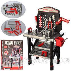 Детский Игровой Набор инструментов 16554B верстак 53-32-74см, дрель вращается сверло, 50 деталей, на бат-ке,