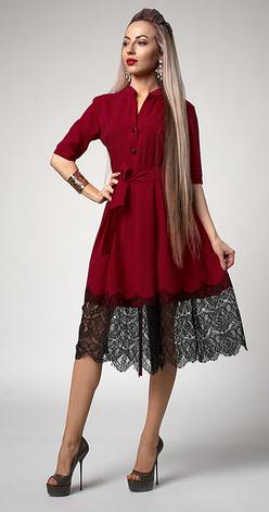"""Платье  """"Виола"""" бордового цвета, фото 2"""