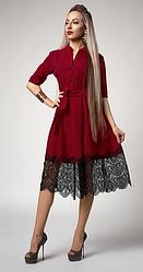 """Платье  """"Виола"""" бордового цвета"""