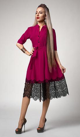 """Платье  """"Виола"""" цвет фукция, фото 2"""