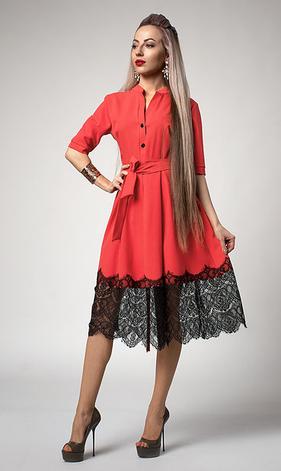 """Платье  """"Виола"""" цвет корал, фото 2"""