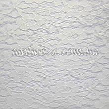 Мереживо на пластиковій сітчастої основі, 20 х 30 см, колір білий