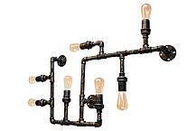 """Люстра стиль лофт из труб 5 ламп модель """"Бруклин"""", фото 2"""