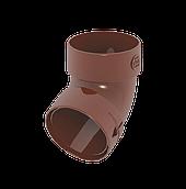 Коліно труби 85 мм коричневе