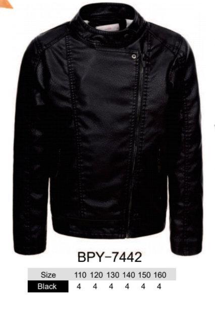 Куртки кожзам на меху для мальчиков оптом, размеры 110-160 Glo-story, арт. ВPY-7442