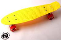 """Penny Board """"Fish"""" Желтый цвет Светящиеся колеса Гарантия качества Быстрая доставка"""