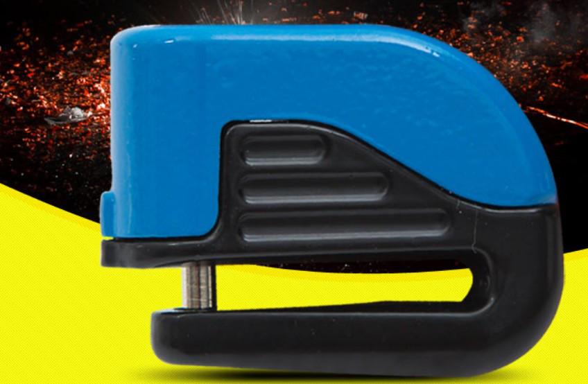 Замок  на дисковый тормоз противоугонный с электронной сигнализацией Disk brake lock-1206