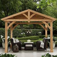 """Беседка конструктор """"Альтанка 1"""" из деревянного бруса прямоугольная от производителя для сада, дома."""