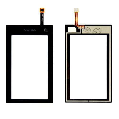 Сенсорный экран (тачскрин) Nokia 5250 чёрный orig