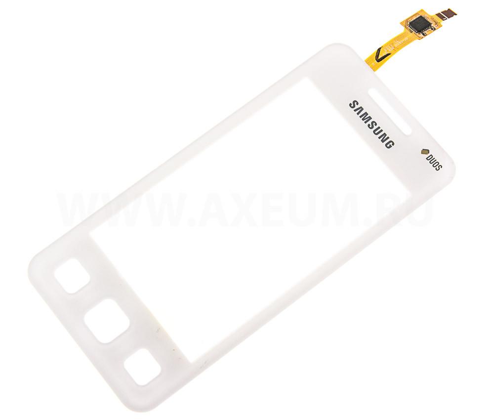 Сенсорный экран (тачскрин) Samsung C6712 белый оригинал