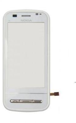 Сенсорный экран (тачскрин) Nokia C6-00 white with frame ориг. к-во