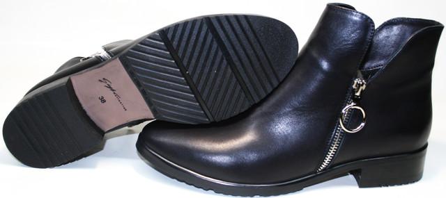 Ботильоны кожаные Jina collection 6621 создали на подошве толщиной 8 мм из ПХВ.
