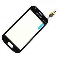 Сенсорный экран (тачскрин) Samsung S7582 Galaxy Trend Plus Duos | S7580 чёрный оригинал