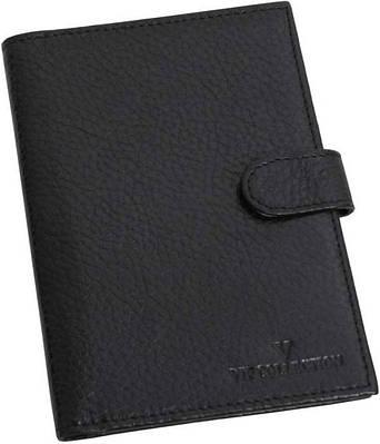 Оригинальная кожаная обложка для паспорта VIP COLLECTION артикул 104A flat черная