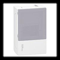 Щит Schneider-Electric Mini Pragma 4 модуля навесной дымчатая дверь IP40 MIP12104T