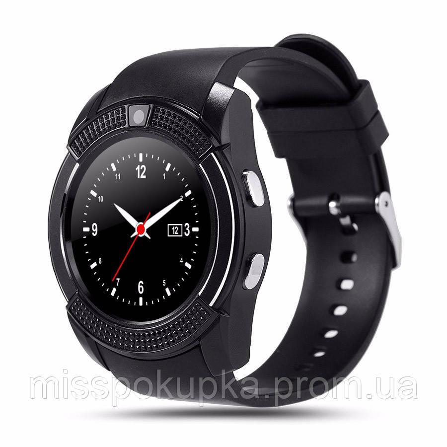 Розумні наручние годинник V8 чорні