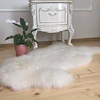 Шкура овечья природная для интерьера, ковер, размер 120х70