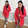 Женская зимняя куртка с капюшоном в расцветках. ОС-1-0918, фото 10