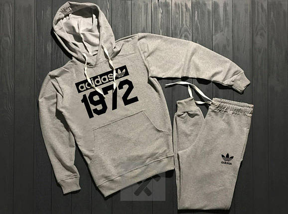 Спортивный костюм Adidas серый топ реплика, фото 2