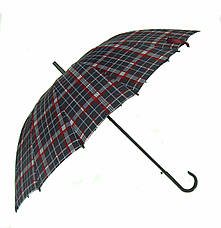 Большой зонт трость Jing Pin полуавтомат 16 спиц зонты мужские, фото 2