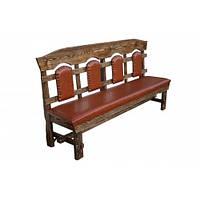 """Скамейка """"Королевская"""" деревянная мягкая. Лавка от производителя мебели под старину для кафе и дома"""