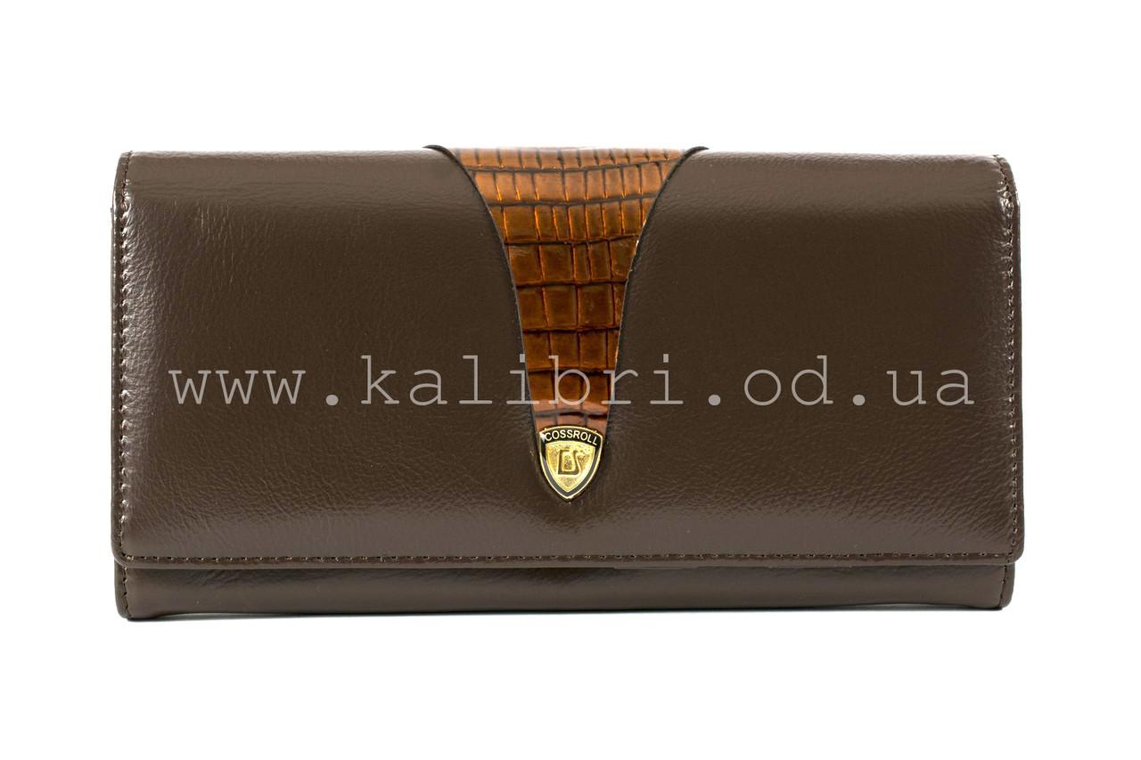dce3c49973d5 Кошелек женский кожаный Cossrol 9-049 коричневый - Kalibri Odessa в Одессе