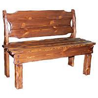 """Лавка """"Добряк"""" твёрдая массивная. Скамейки из дерева от производителя под старину для заведений"""
