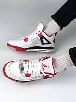 766cb2d2 Баскетбольные кроссовки Nike Air Jordan Retro 4 Red/White/Black, фото 3