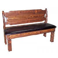 """Лавка """"Добряк"""" мягкая деревянная под старину. Мебель под заказ от производителя. Скамейки для кафе"""