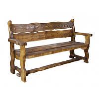 """Лавка """"Берендей"""" деревянная для дома кафе бара террасы. Скамейки от производителя под старину"""