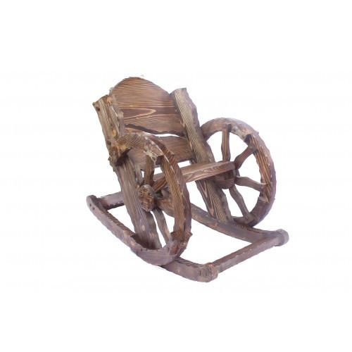 кресло качалка шервуд деревянное с колесом удобное массивное