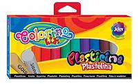 Круглий пластилін 12 кольорів із золотом і сріблом, в коробці, Colorino