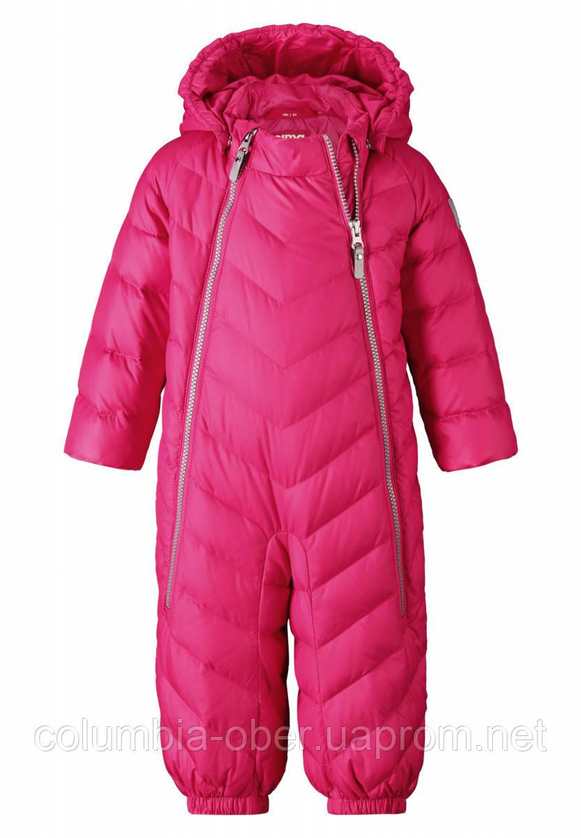 Зимний пуховый комбинезон для девочки Reima 510299-4590. Размеры 74-92.