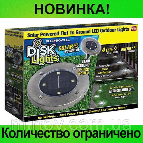 Уличный Светильник на солнечных батареях Disk lights 1шт