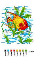 Набор канва с нитками А5 060 Рыбка