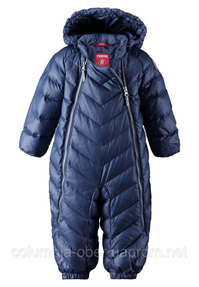 Зимний пуховый комбинезон для мальчика Reima 510299-6790. Размеры 74-92.