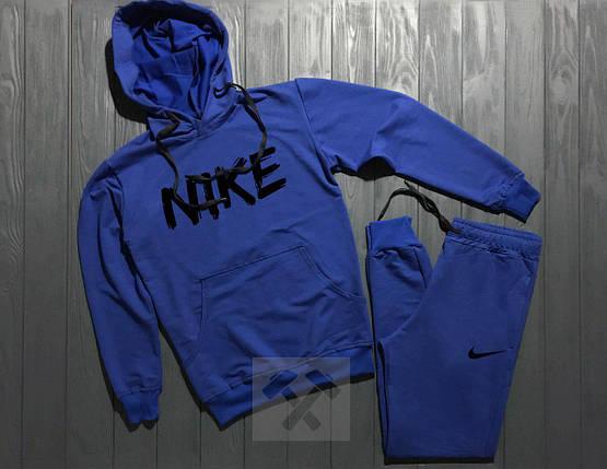 Спортивный костюм Nike Blue топ реплика, фото 2