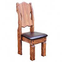 """Стул """"Добряк М"""" с мягким сидением. Производство мебели под старину из натурального дерева. Оптом"""