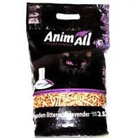 AnimAll (Энимал) наполнитель древесный для котов, с ароматом лаванды -  2.8 кг