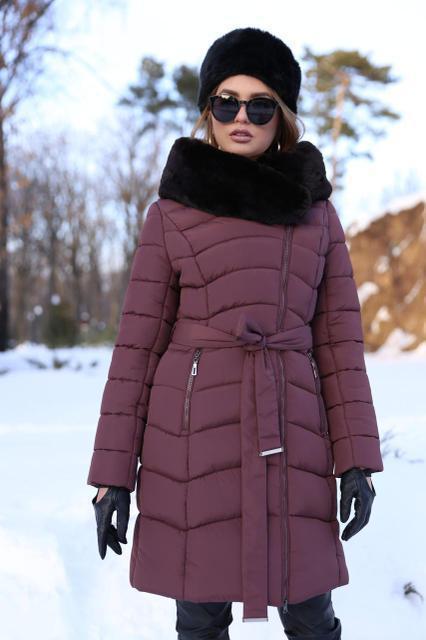 3f5b18fbed6 Купить Модное зимнее пальто пуховик с мехом мутона по выгодной цене ...