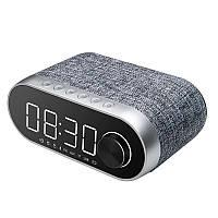 Колонка + часы Bluetooth Speaker Remax RB-M26 Silver